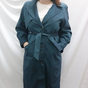 Teal Vintage London Fog Trench Coat